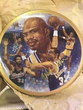 "1989 ""Path of Glory� Plate w/Kareem Abdul-Jabar Autograph Ucla Lakers Nba"