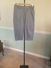 "Apostrophe Gray ""Fiona"" Cotton Blend Long Walking Shorts - 6"