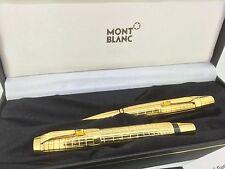 Montblanc Boheme citrine gold plated fountainpen ballpoint box set papers 7514
