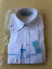 Hawes & Curtis women's white formal fitted hipster shirt