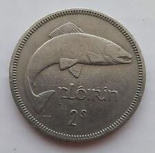 Old Irish Ireland Florin Salmon Coin Available Dates 1954 - 1968