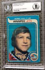 1979 O-PEE-CHEE BOBBY HULL AUTO / SIGNED HOCKEY CARD BGS AUTHENTIC