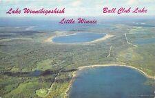 GRAND RAPIDS MN 1963 Aerial View Lake Winneibigoshish, Little Winnie & Ball Club
