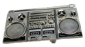 Radio Buckle Cassette Tape Player Boombox Belt Buckles Gothic Accessory