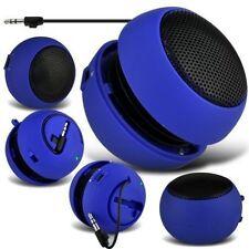 Docks altavoces azul para teléfonos móviles y PDAs