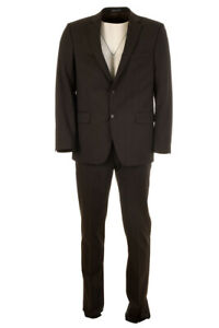 BRUNO SAINT HILAIRE Suit Brown Grey Wool Blend Size 50 / 40R RRP £375 BW 586