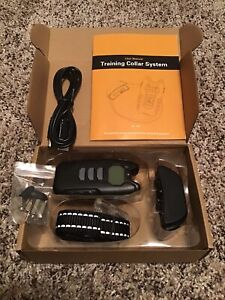 New Flittor Dog Training Collar Rechargeable Waterproof Reflective M-L Dogs