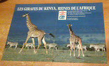 Publicité advertising radio o 'fm 99.9 kenya (double page)