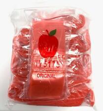 Apple Baggies 175175 Red 1000 Pack 175x175 Inch Small Plastic Zipper Bags
