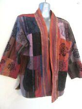 TREE OF LIFE Soft Vintage Finish Patchwork Coat Handblock Print Deity Hindi M L