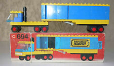 Rare: Lego vintage d'occasion n° 694 camion remorque avec sa boite