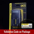 New Nitecore UM20 USB Powered Digi LCD Charger For 18650 18500 14500 18350 16340