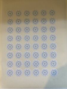 Personalised Business Stickers Sheet Of 48 1inch Diameter same Day Dispatch