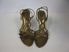 Nine West Burlan gold high heel synthetic sandals sz 9.5M