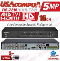 Hikvision 16 CHANNEL DVR 16CH DS-7216HUHI-F2/N HD-TVI 5MP DVR TVI/AHD/ANALOG/IP