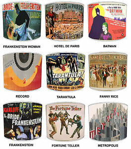 Lampshades Ideal To Match Vintage Posters Wall Decals & Cushions