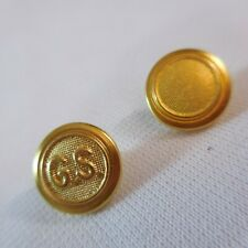 Two  Girl Scout Gold Buttons