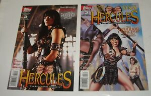 HERCULES # 3 TOPPS COMICS 1996 LOT of ZINA ART COVER & XENA LUCY LAWLESS PHOTO