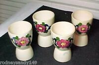4 Beautiful Made in Japan Ceramic / Pottery Egg Cups w Floral Design