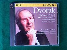 2 CD Musica , DVORAK GIULINI - SINFONIE 7 8 9 , Classic Voice 133/134 (2010)