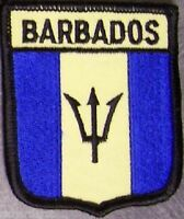 Embroidered International Patch National Flag of Barbados NEW bunting