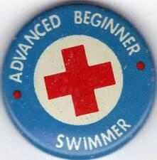 Red Cross Award Pinback Advanced Beginner Swimmer