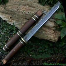 Sharp Achang HUSA Knife Camping knife Battle Sword Pattern Steel Blade #5470