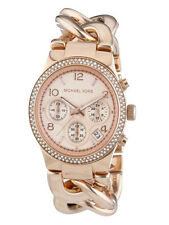 Michael Kors MK3247 Ladies Chronograph Rose Gold Twist Chain Watches