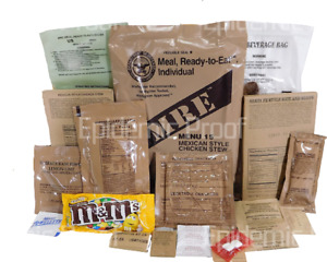 1 INDIVIDUAL 2022 MRE - YOU CHOOSE MENU! - GENUINE US MILITARY MEAL READY TO EAT