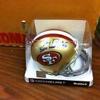 Jerry Rice~Autographed San Francisco 49ers Riddell mini Helmet ~COA Authentic