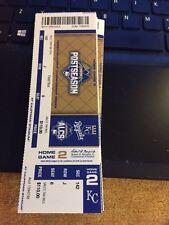 2015 KANSAS CITY ROYALS VS TORONTO BLUE JAYS ALCS TICKET STUB GAME #2