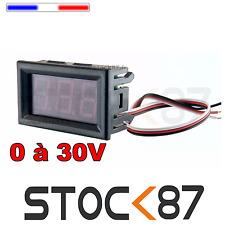 5203# Voltmètre LED rouge avec enjoliveur 0 à 30V DC -