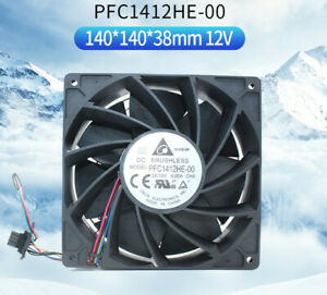 Delta PFC1412HE-00 14038 12V 9A high speed server violent cooling fan