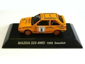 WOW EXTREMELY RARE Mazda 323 4WD Turbo 1989 #8 Sweden WRC 1:64 CM's Kyosho-RX7