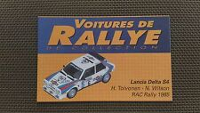 Certificat Voiture De Rallye De Collection « Lancia Delta S4 »TBE.