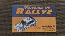 Certificato Macchina De Rallye Da Collezione « Lancia Delta S4 »TBE