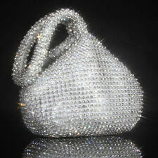 Triangle Full Rhinestones Women's Evening Clutch Bag Party Prom Wedding Purse CR