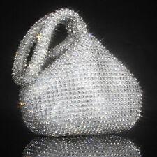 Triangle Full Rhinestones Women's Evening Clutch Bag Party Prom Wedding Purse CR