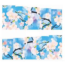 Fullcover Sticker Nail Art Wrap Nagelsticker Blume Blüte Blau Weiss C165