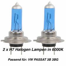 2x Halogen Lampen H7 55W 12V Abblendlicht Xenon Optik 6000K Für VW PASSAT 3B 3BG