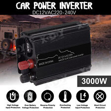 Inversor de Corriente Convertidor 3000W DC12V TO AC 220V Power Inverter with USB