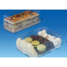 50 pcs - Plastic Disposable Clear BOX - Salad Cake Muffin Pastry Food - 2040