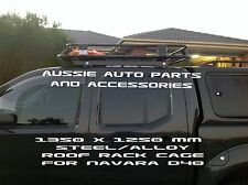 Fully Enclosed Deluxe Alloy Roof Rack 1350mm for Nissan Navara D40 Dual Cab Ute