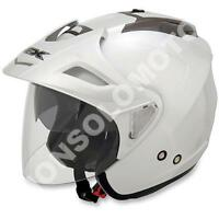 Casco Helmets Jet Moto Cross Enduro Quad Trial Scooter  AFX FX-50 Bianco Lucido