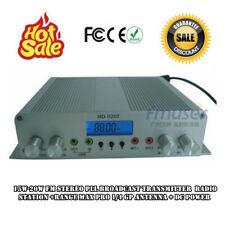 15W-20W FM Transmitter Stereo PLL Broadcast Radio Station+1/4 Gp Antenna+Power