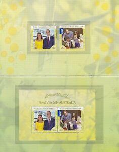 Australia 2014  Royal Visit stamp pack SG 4193/ms4195 MUH