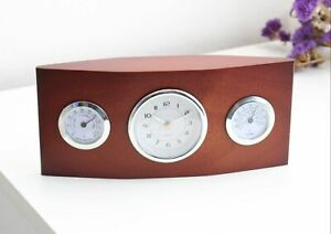 Desk Clock Metal and Wood for Home and Business - Gift Idea For Him