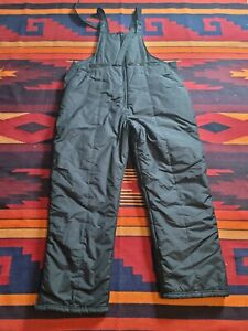 ACE AMERICAN CULTURE EXCHANGE, Ski Bib Overalls Size XLARGE Black insulated.