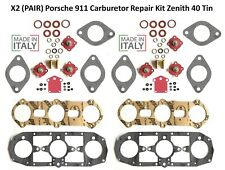X2 PAIR Porsche 911 Carburetor Repair Kit Zenith 40 Tin 1965-1973 made in Italy