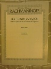 The Piano Works of Rachmaninoff Eighteenth VariationPiano Solo.1981